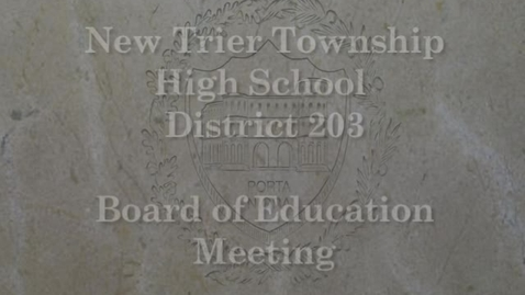 Thumbnail for entry NTHS Board of Ed Mtg 5-1-2017