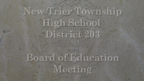 Thumbnail for entry NTHS Board of Ed Mtg 10-15-2018