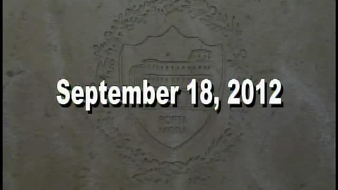 Thumbnail for entry NTHS Board of Ed Meeting 9-18-12