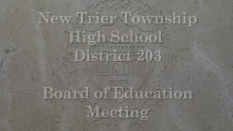 Thumbnail for entry NTHS Board of Ed Mtg 3-19-2018