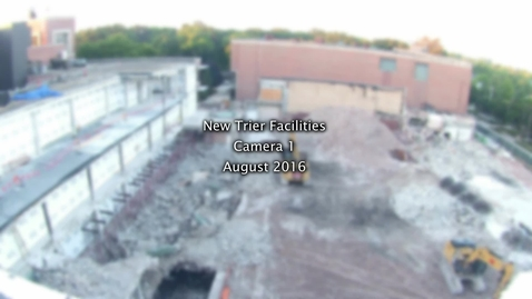 Thumbnail for entry August 2016 Facilities Camera Timelapse