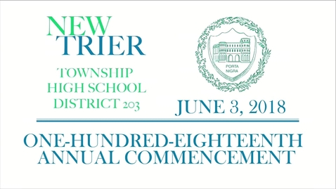 Thumbnail for entry New Trier Township High School Commencement 2018.