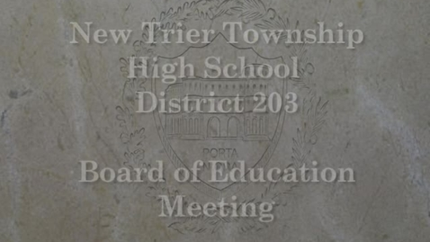 Thumbnail for entry NTHS Board of Ed Mtg 7-15-2019