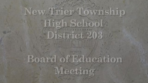 Thumbnail for entry NTHS Board of Ed Mtg 1-22-2019