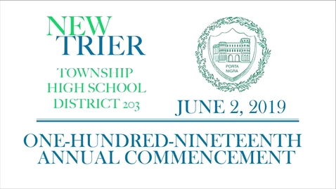 Thumbnail for entry New Trier Township High School Commencement 2019.