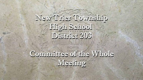 Thumbnail for entry NTHS Committee of the Whole Mtg  2-8-21.