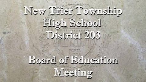 Thumbnail for entry NTHS Board of Ed Mtg 10-14-2019