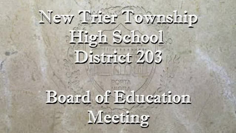 Thumbnail for entry NTHS Board of Ed Mtg 12-16-19
