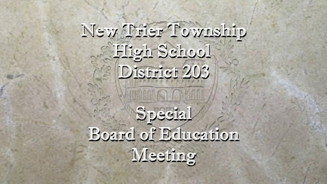 Thumbnail for entry NTHS Special Board of Ed Mtg  8-11-21.