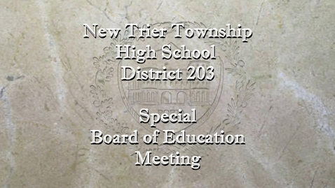 Thumbnail for entry NTHS Special Board of Ed Mtg 10-13-20.