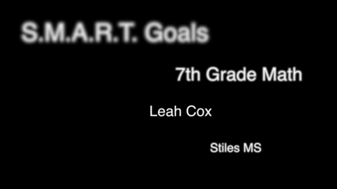 Thumbnail for entry Goal Setting in MS Math