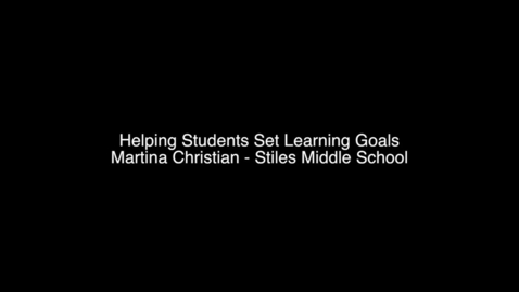 Thumbnail for entry Learning Goal Introduction