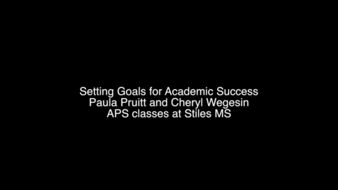 Thumbnail for entry Goal Setting for Academic Success
