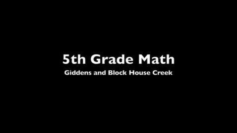 Thumbnail for entry Giddens BHC 5th Math - Self Paced Systems