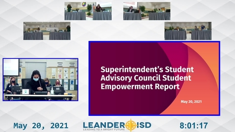 Thumbnail for entry Superintendent Student Advisory Council Presentation