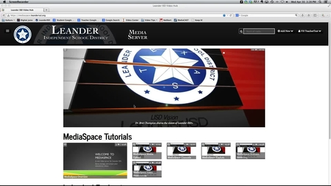 Thumbnail for entry MediaSpace Screen Recording