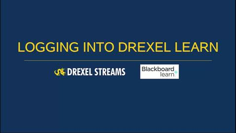 Learn - Logging into Drexel Learn
