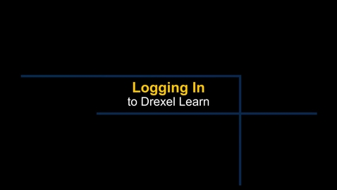 Thumbnail for entry Learn - Logging into Drexel Learn