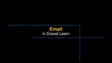 Thumbnail for entry Learn - Email in Drexel Learn
