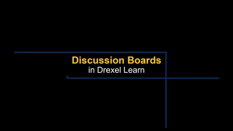 Thumbnail for entry Learn - Discussion Boards