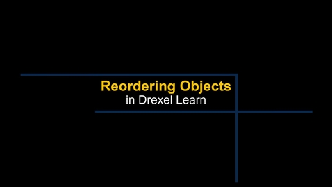 Thumbnail for entry Learn - Reordering Objects in a Content Area