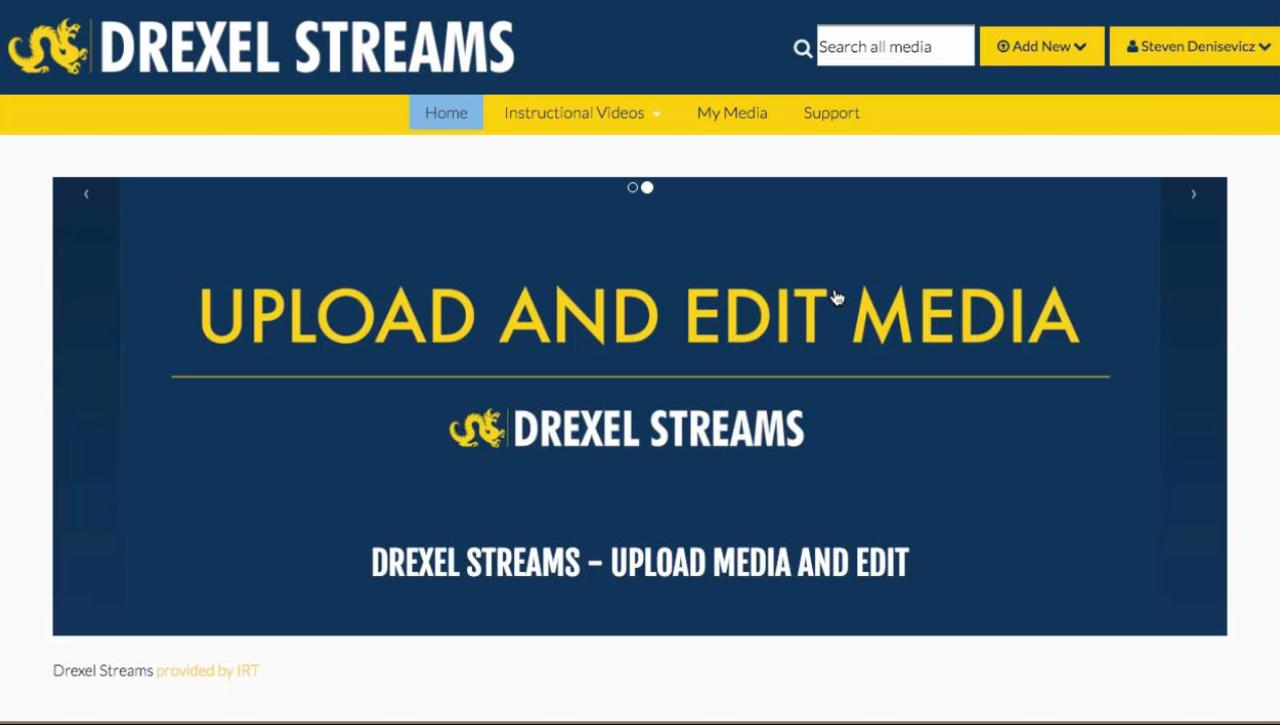 Replacing Video In Drexel Streams