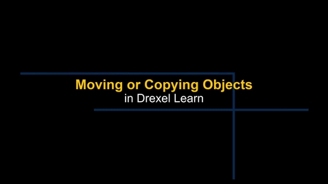 Thumbnail for entry Learn - Moving or Copying Objects