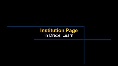 Thumbnail for entry Learn - Institution Page