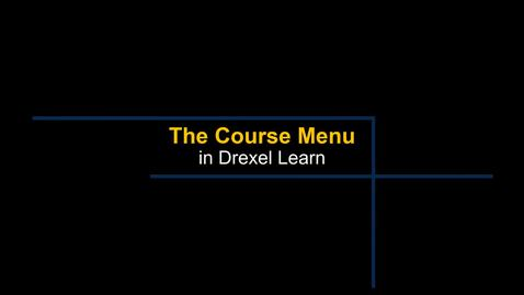 Thumbnail for entry Learn - Course Menu