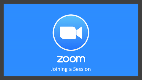 Thumbnail for entry Zoom: Join a Session