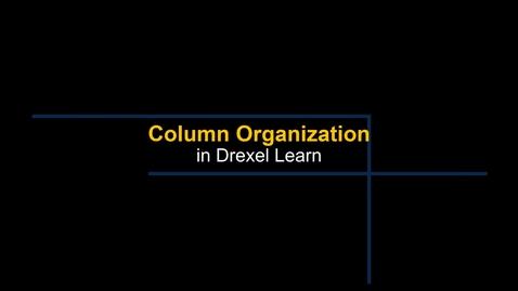 Thumbnail for entry Grade Center - Column Organization