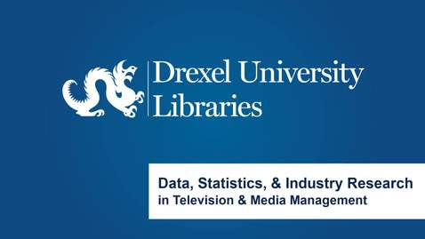 Thumbnail for entry Data, Statistics, and Industry Research in Television and Media Management