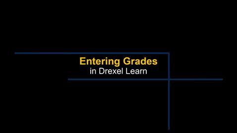 Thumbnail for entry Grade Center - Entering Grades