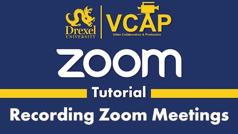 Thumbnail for entry Recording Zoom meetings