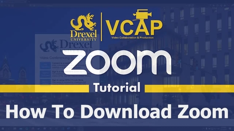 Thumbnail for entry How to Download Zoom Application