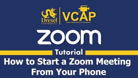 Thumbnail for entry How to Host a Zoom Meeting by Telephone