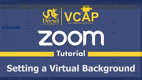Thumbnail for entry How to Set a Virtual Background
