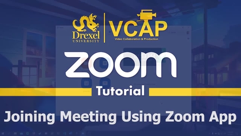 Thumbnail for entry Joining Meeting Using Zoom App
