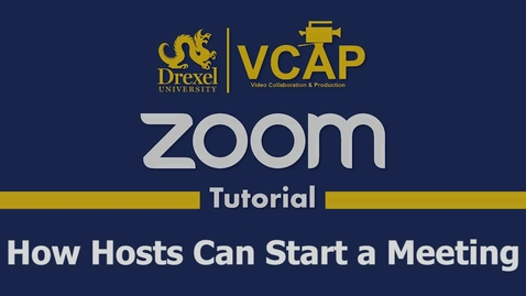 Thumbnail for entry How Hosts Can Start a Zoom Meeting
