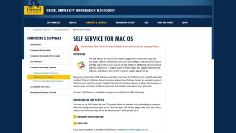 Thumbnail for entry macOS Self Service Enrollment
