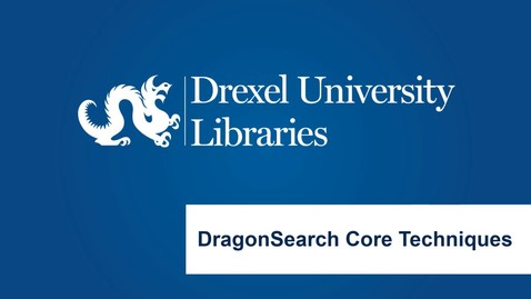 Thumbnail for entry DragonSearch Core Techniques