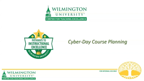 Thumbnail for entry Cyber-Day Course Planning