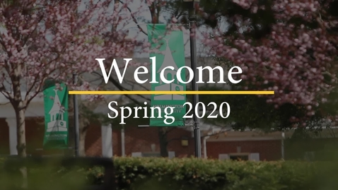 Thumbnail for entry Welcome to the Spring 2020 Semester!