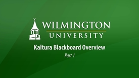 Thumbnail for entry Kaltura Blackboard Overview - Part 1