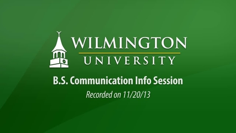 Thumbnail for entry BS Communication Info Session 11-20-13