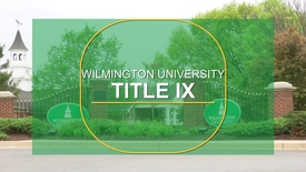 Thumbnail for entry Title IX at Wilmington University