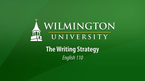 Thumbnail for entry English 110: The Writing Strategy
