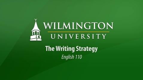 English 110: The Writing Strategy
