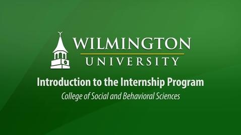 Introduction to the Internship Program by Social and Behavioral Sciences Internship Coordinator John Rolfe