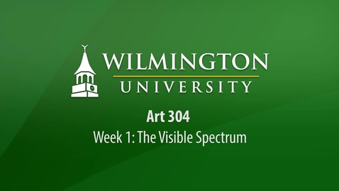 Thumbnail for entry ART 304: Week 1 Lecture - How We Perceive Color